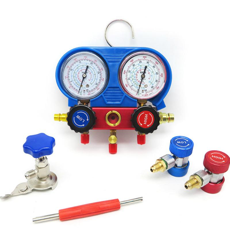 R134A A/C Refrigeration Kit AC Manifold Gauge Set Auto Service Kit Car Air  Conditioning Repair Fluorine Filling Tool