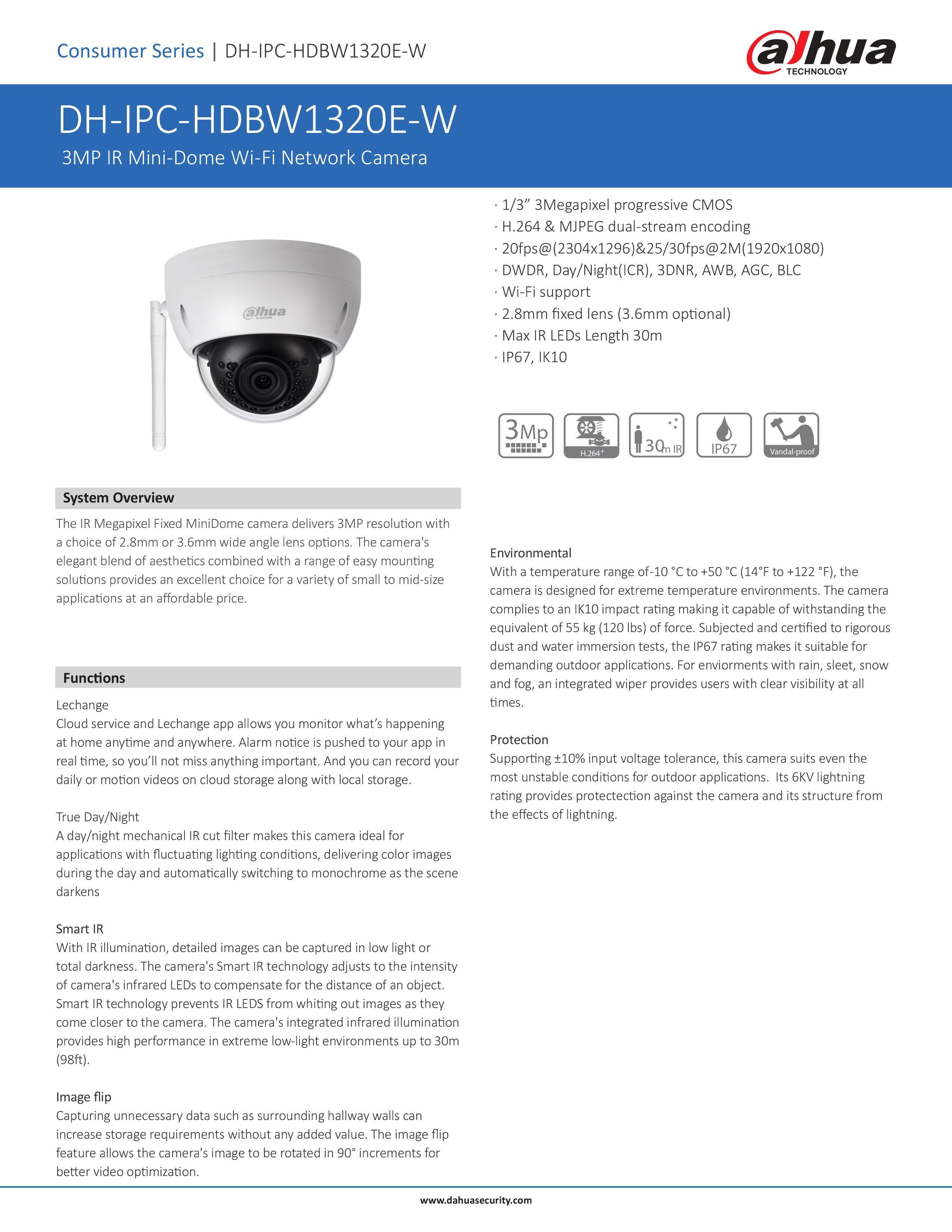 Dahua IPC-HDBW1320E-W IP HD Camera CCTV 40