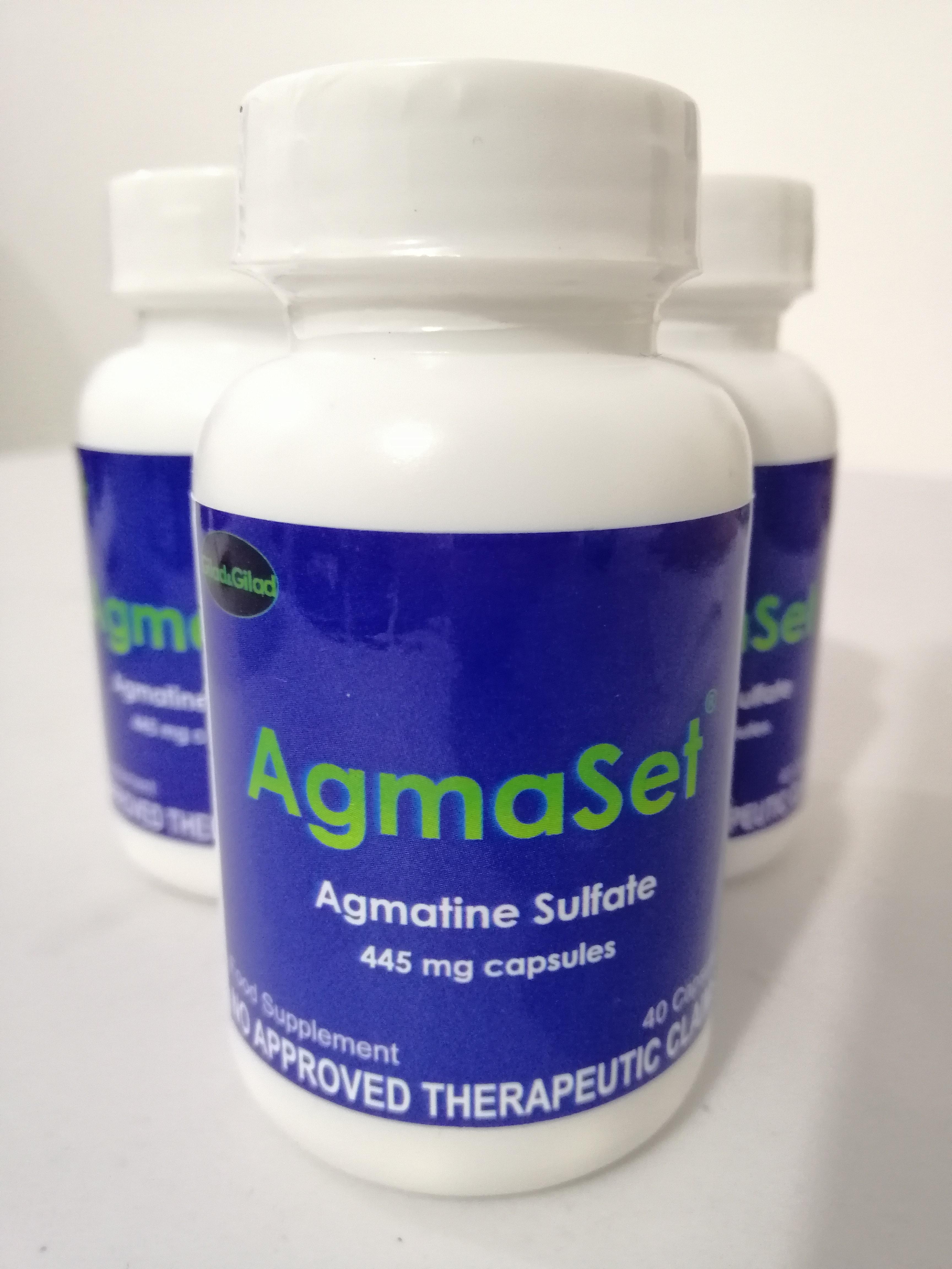 Agmaset (Agmatine Sulfate) 445mg 40 Capsules