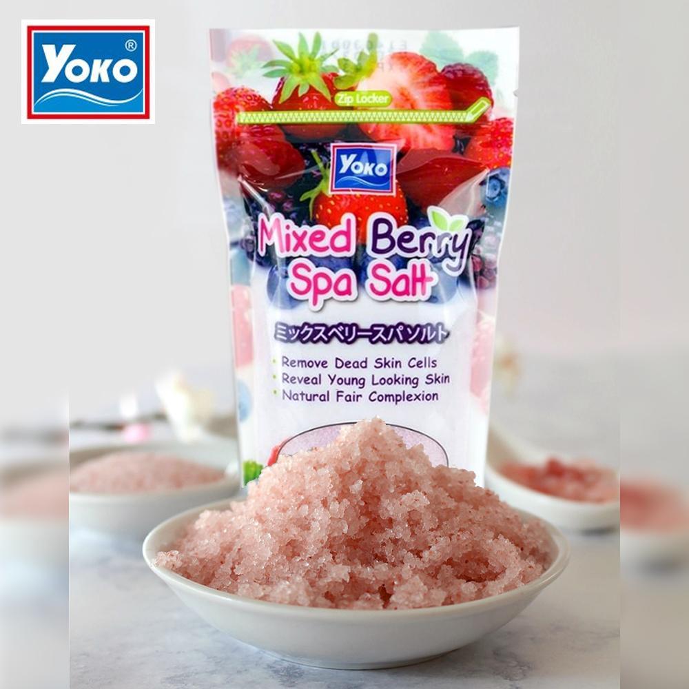 YoKo, YoKo Mixed Berry Spa Salt, YoKo Mixed Berry Spa Salt รีวิว, YoKo Mixed Berry Spa Salt ราคา, YoKo Mixed Berry Spa Salt ดีไหม, YoKo Mixed Berry Spa Salt 50 g., YoKo Mixed Berry Spa Salt 50 g. เกลือสปาขัดผิว