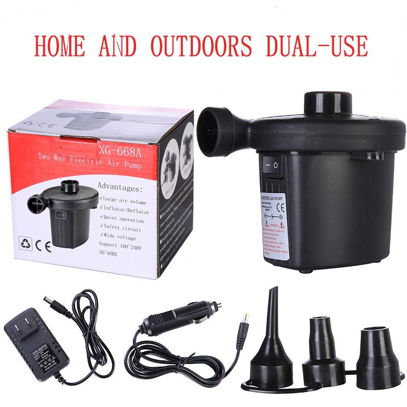 240V Electric Air Pump Inflator Camping Airbed Pool Deflator Inflatable Toy Boat