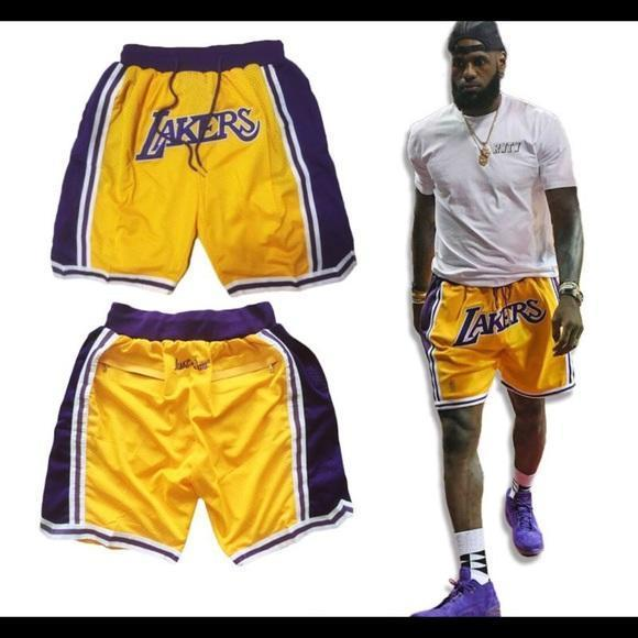 new products b5247 85df0 NBA LAKERS Jersey justdon Short FOR MAN