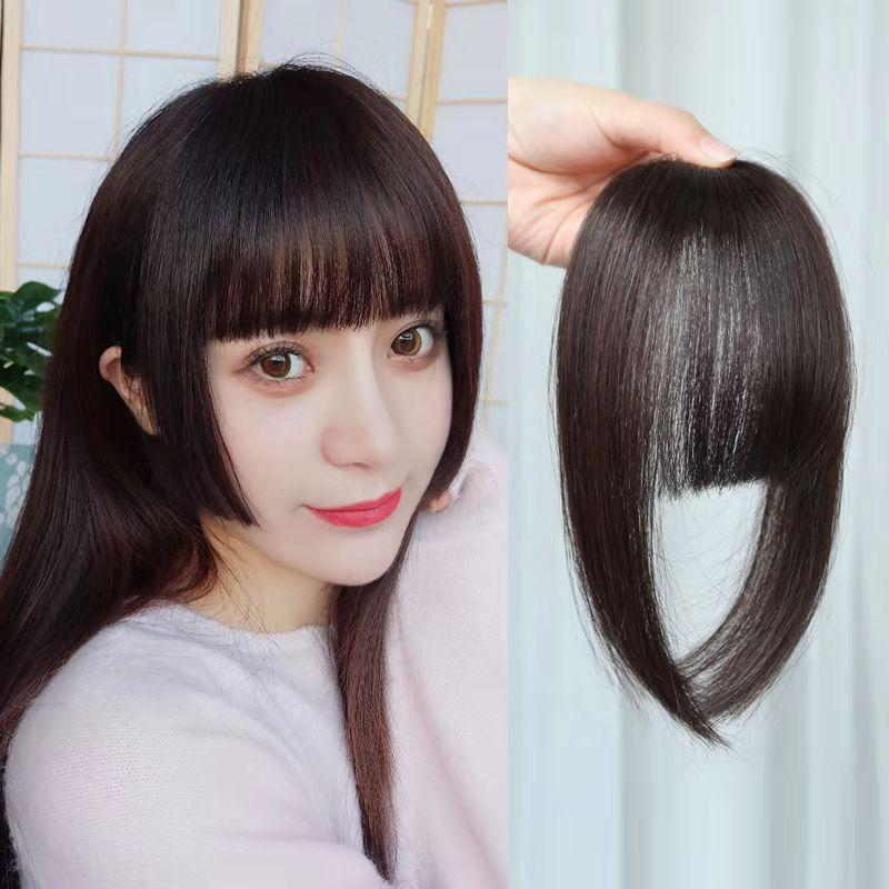 O New Women Bangs Wig Hair Extension Fringe Hairpieces Hair Clips Front Neat Bang