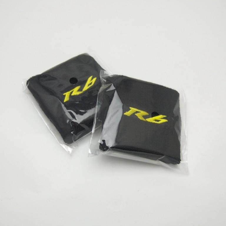 Motorcycle R6 Brake Reservoir Sock Fluid Oil Tank Cup Cover Sleeve For  Yamaha R6 Black&yellow