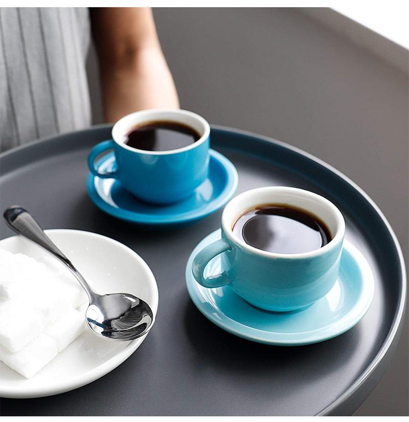 Porcelain Espresso Cup Set Saucer