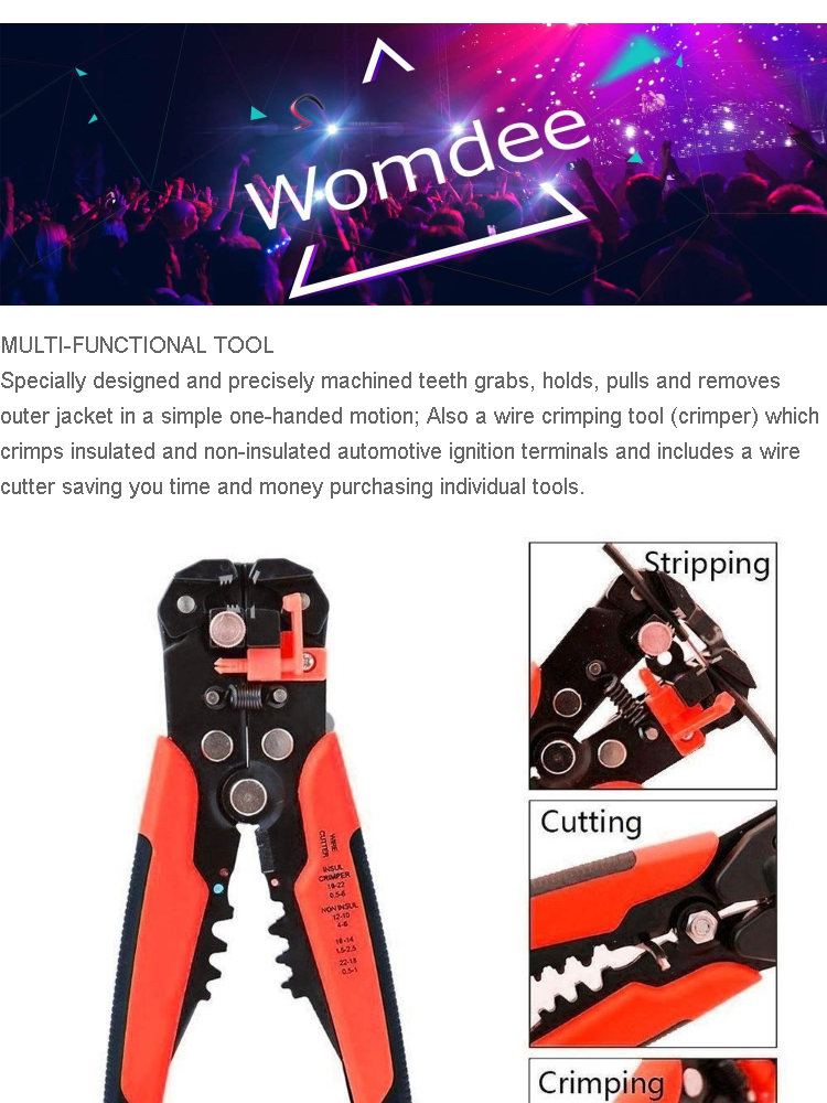 Womdee Wire Stripping Tool Self-adjusting Cable Cutter Crimper Automatic on electric money, gasoline money, marilyn monroe money, boss money, japan money, solar money,