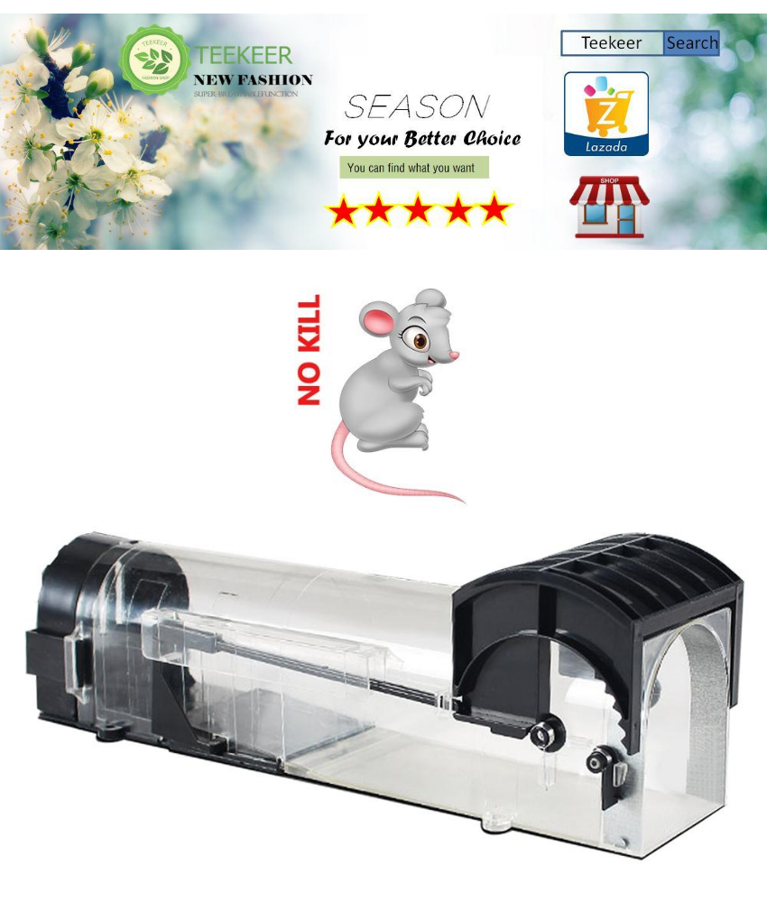 Teekeer Humane Mouse Trap, Rodent Trap, No Kill Live Mice Catch Cage, 1  Pack - intl
