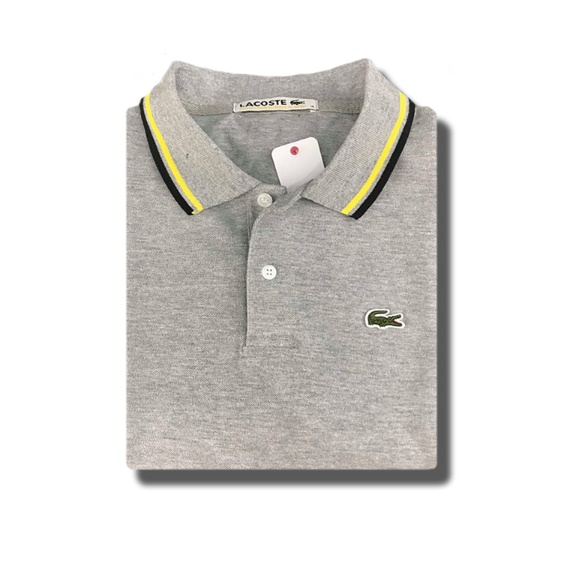 67a49ed295 Men's Lacoste Classic Polo Shirt cc Black-Yellow