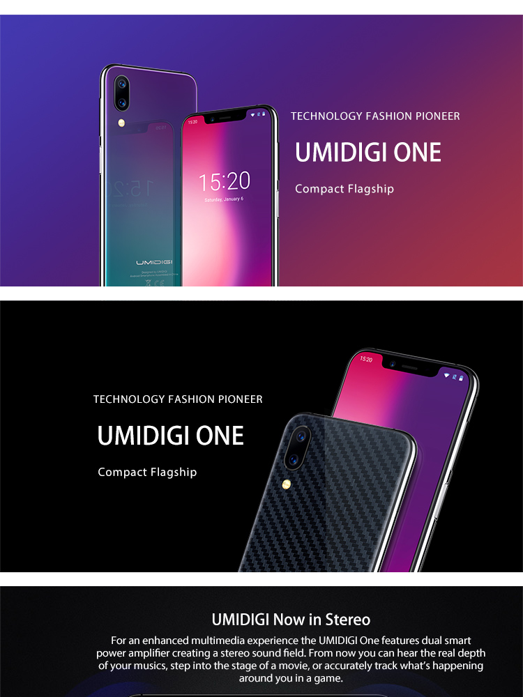 UMIDIGI UMI ONE 4GB RAM 32GB ROM Helio P23 MTK6763 2 0GHz Octa Core 5 9  Inch Incell HD+ Full Screen Dual Camera Android 8 1 4G LTE Smartphone