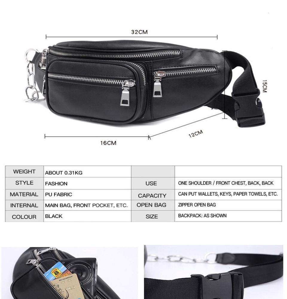 5f13e2e0ce4 Korean Leather Belt Bag Chest Bag Waist Bag Korean Body Bag Belt Bag Cross  Body Bag Shoulder Bag W omens Bag Cross body Bag for Men Military Messenger  ...