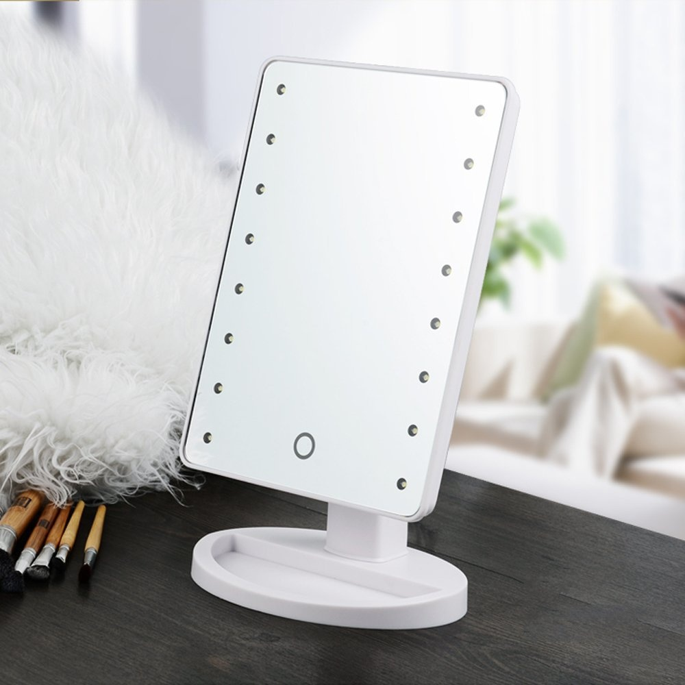 Large LED Mirror with 16 LED Lights Vanity Make Up Mirror - White Philippines