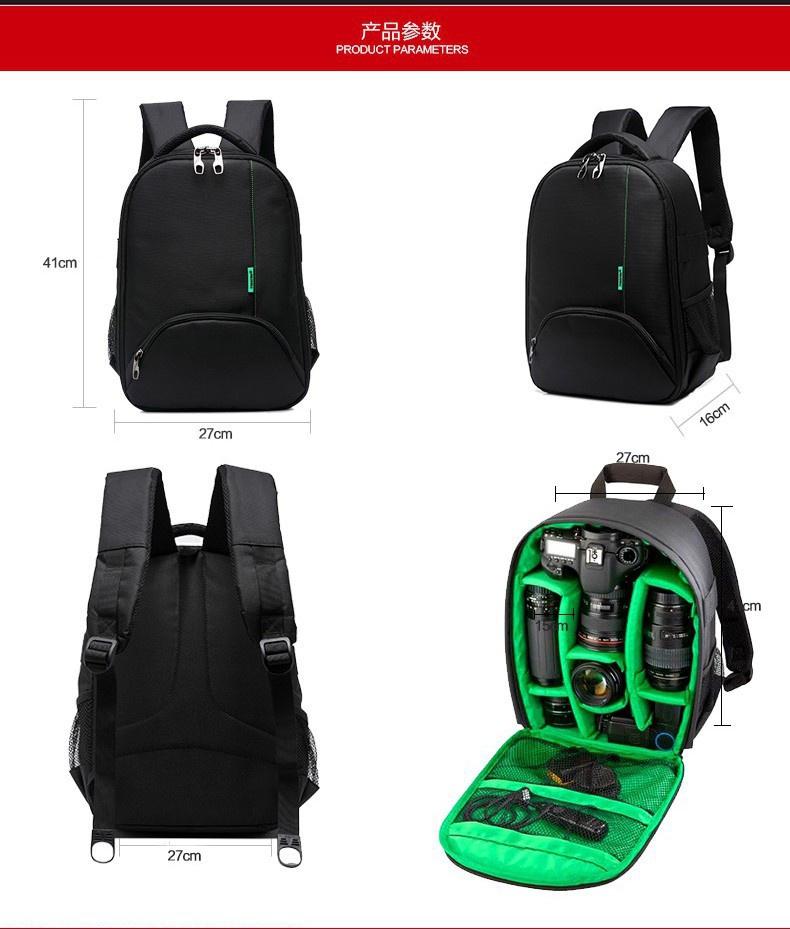 Specifications of 2018 Tigernu Waterproof Camera Backpack DSLR Camera Bag( black green) cc1e40e41ef00