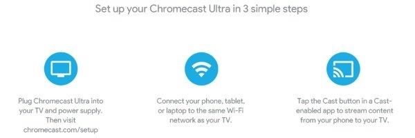 Chromecast Ultra footer