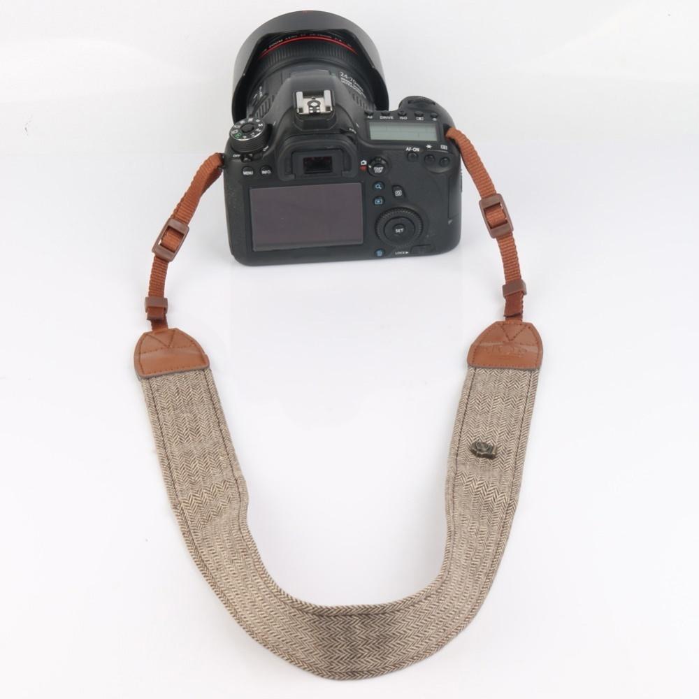Universal Adjustable Camera Shoulder Neck Belt Strap Cotton for SLR DSLR Cameras LA-405