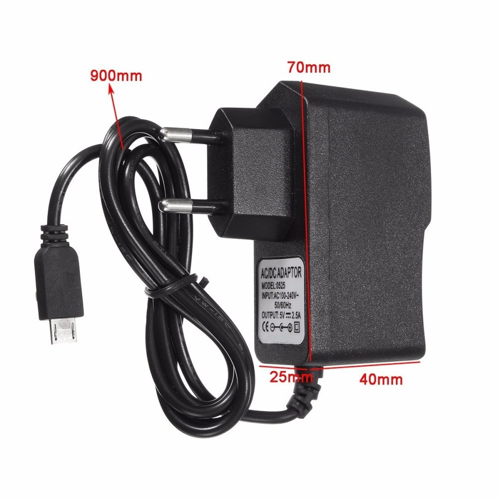 5V 2 5A Micro USB Charger Power Supply Adapter For Raspberry Pi 3 Tablet EU  Plug - intl