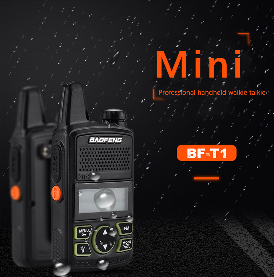 7ddf073a5ef Specifications of 2Pcs. Baofeng BF-T1 Portable Mini Walkie-Talkie Two-Way  Radio
