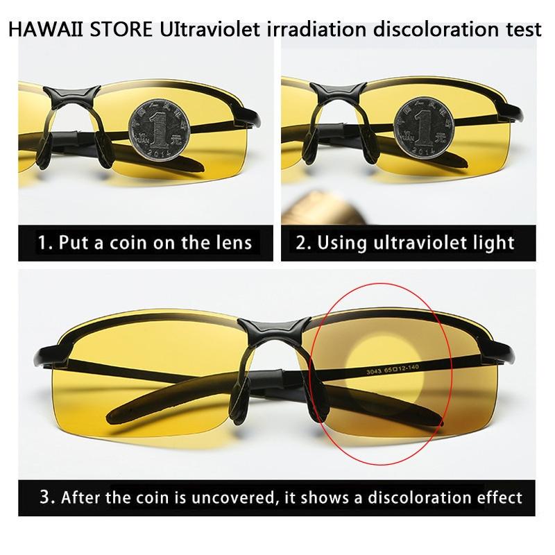 7d76a6110eb Men Photochromic Polarized Sunglasses Semi-Rimless Metal Discoloration Sun  Glasses Men Chameleon Glasses Men Sunglasses Driver Goggles Night Vision