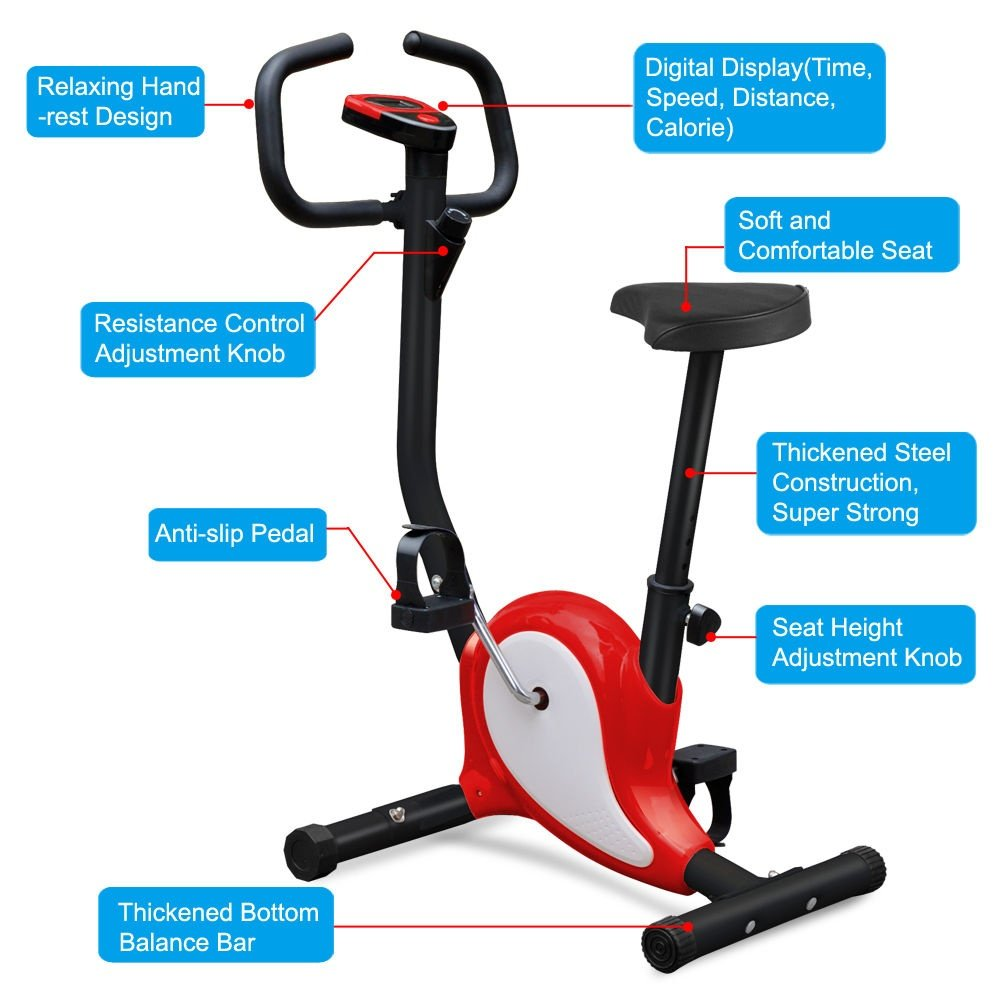 Astonishing G Best Upright Bike Exercise Bike Bicycle Exerciser Magnetic Stationary Fitness Cycle Cardio Aerobic Equipment Creativecarmelina Interior Chair Design Creativecarmelinacom