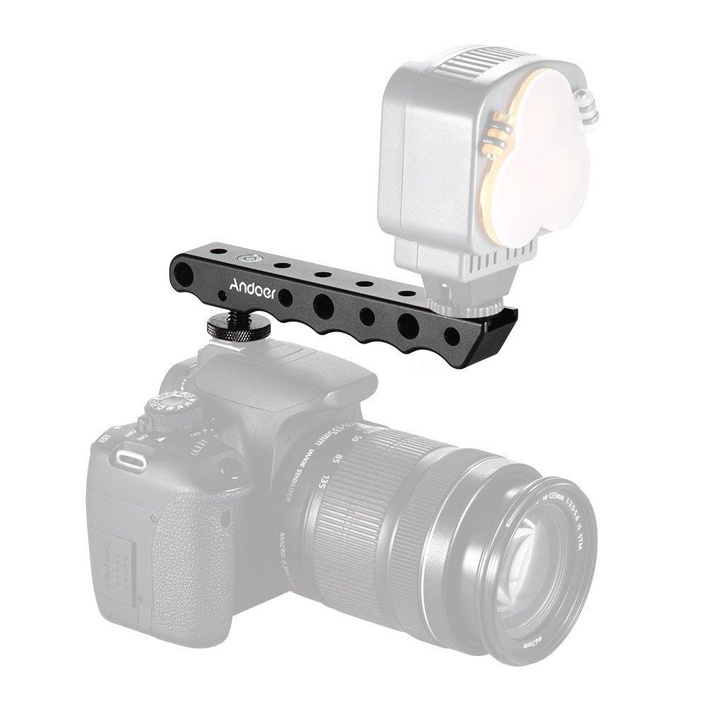 Andoer Camera Dual Cold Shoe Base Top Handle Grip For Canon EOS Nikon Sony
